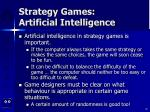 strategy games artificial intelligence