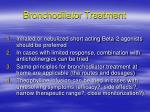 bronchodilator treatment