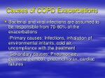 causes of copd exacerbations