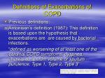 definitions of exacerbations of copd