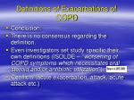 definitions of exacerbations of copd4