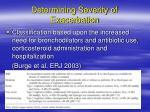 determining severity of exacerbation2