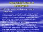 determining severity of exacerbation3