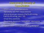 determining severity of exacerbation5