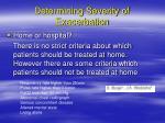 determining severity of exacerbation6