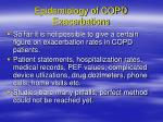 epidemiology of copd exacerbations1