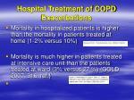 hospital treatment of copd exacerbations