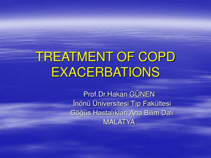 treatment of copd exacerbations n.