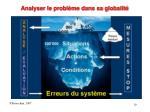 analyser le probl me dans sa globalit
