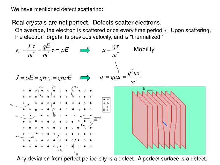 We have mentioned defect scattering: