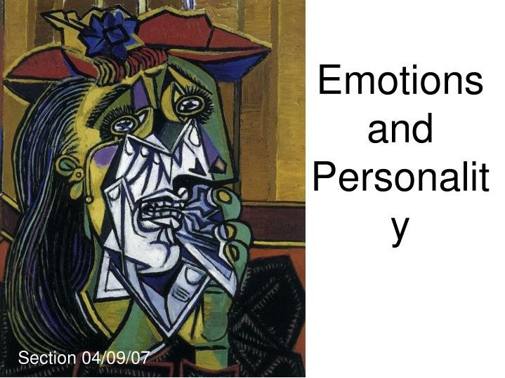 emotions and personality n.