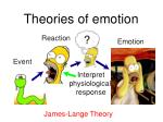 theories of emotion5