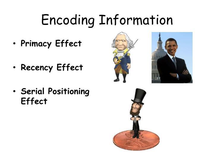 Encoding Information