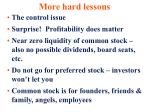 more hard lessons