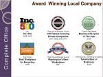 award winning local company