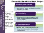 electronic reimbursement project
