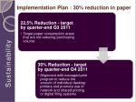implementation plan 30 reduction in paper1