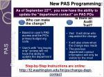 new pas programming