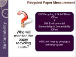 recycled paper measurement