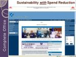 sustainability with spend reduction
