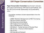 uw paper conservation committee