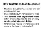 how mutations lead to cancer