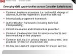 emerging gol opportunities across canadian jurisdictions