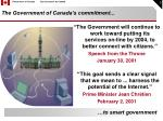 the government of canada s commitment
