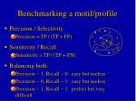 benchmarking a motif profile1