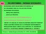 re refining indian scenario
