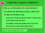 used oils characteristics1