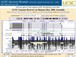 ucsc genome browser university california santa cruz usa http genome ucsc edu
