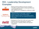 roi leadership development examples