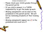 grades gradebook con t