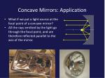 concave mirrors application1
