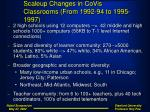 scaleup changes in covis classrooms from 1992 94 to 1995 1997