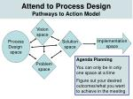 attend to process design pathways to action model