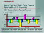 strong yield and traffic drive canada revenue up u s improving