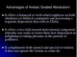 advantages of aretaic graded absolutism