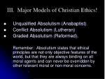 iii major models of christian ethics