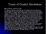 tenets of graded absolutism1