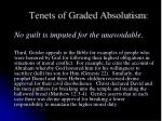 tenets of graded absolutism6