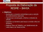 proposta de elabora o da resme bahia1