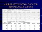 ashrae attenuation data for rectangular elbows