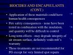 biocides and encapsulants cont