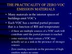 the practicality of zero voc emission materials