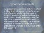 synar requirements
