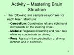 activity mastering brain structure1