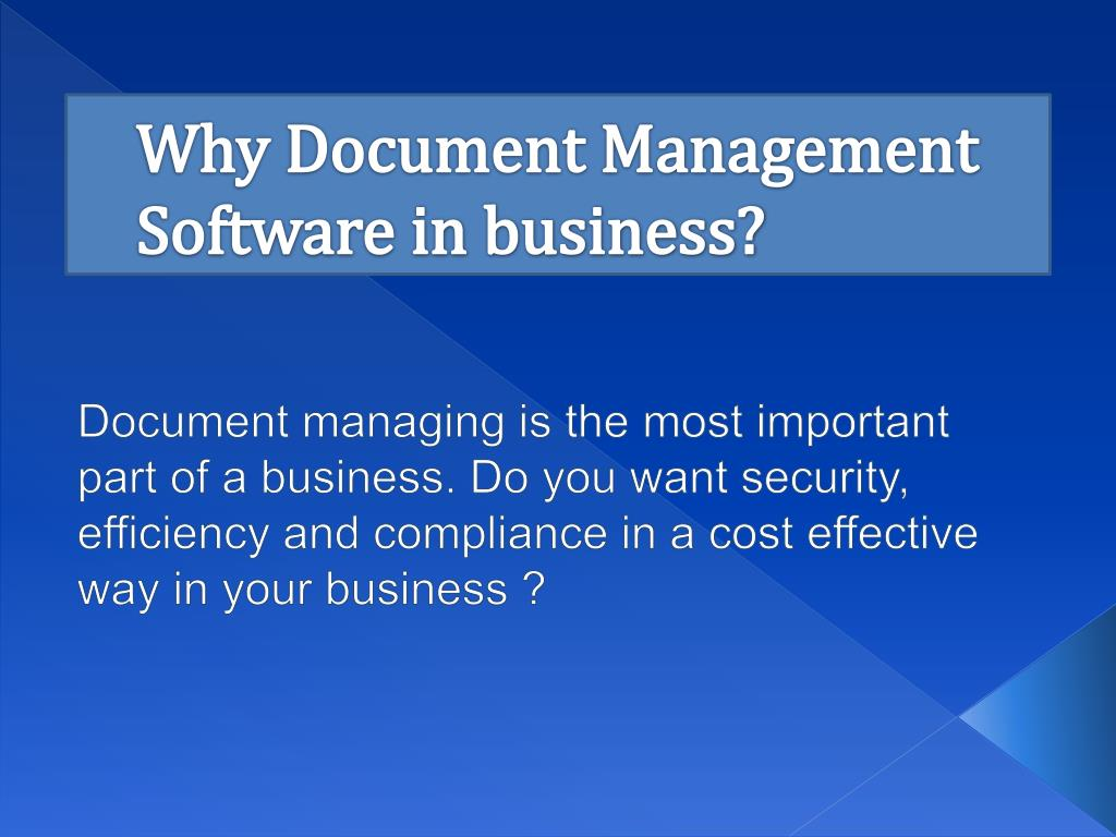 why document management software in business l.