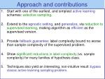 approach and contributions